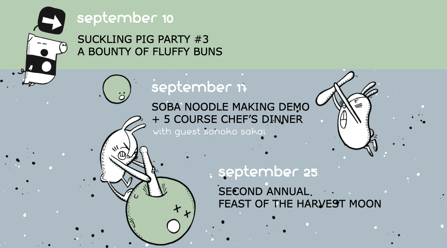 September 2018 Events at Miss Kim